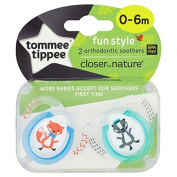 Tommy Tippee Closer to Nature Soothers Fun 0-6m