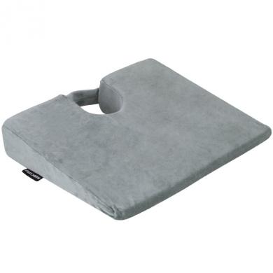 Hardcastle Plush Grey Wedge Memory Foam Seat Support Cushion