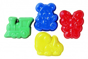 4 Jelly Moulds Kids Children Baking Cooking Kitchen Tools Party Dome Cake Chocolate Candy Sweet Tool Gadget Shape