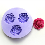 YL Rose Flower Y068 Silicone Soap mould Craft Moulds DIY Handmade soap mould