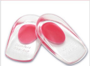 2pcs Invisible Comfy Unisex Silicone Gel Lift Height Increase Shoe Insoles Heel Insert Pad Height Taller Pads Foot Pain Relief Massaging Cushion Heel Cup