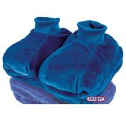 Plush Foot Warmer with 2 L Hot Water Bottle Hot Water Bottle Heat Therapy, Feet Blue