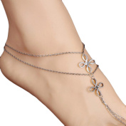 Vovotrade Girls Beautiful Multi Tassel Toe Chain Link Foot Jewellery Anklet Chain
