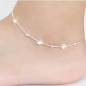 Vovotrade Women Small Box Chain Ankle Bracelet Barefoot Sandal Beach Foot Jewellery