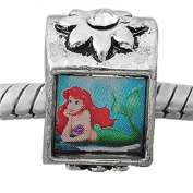 """SEXY SPARKLES Women's """"The Little Mermaid Charm """" Bead Spacer With Rhinestone Charm"""