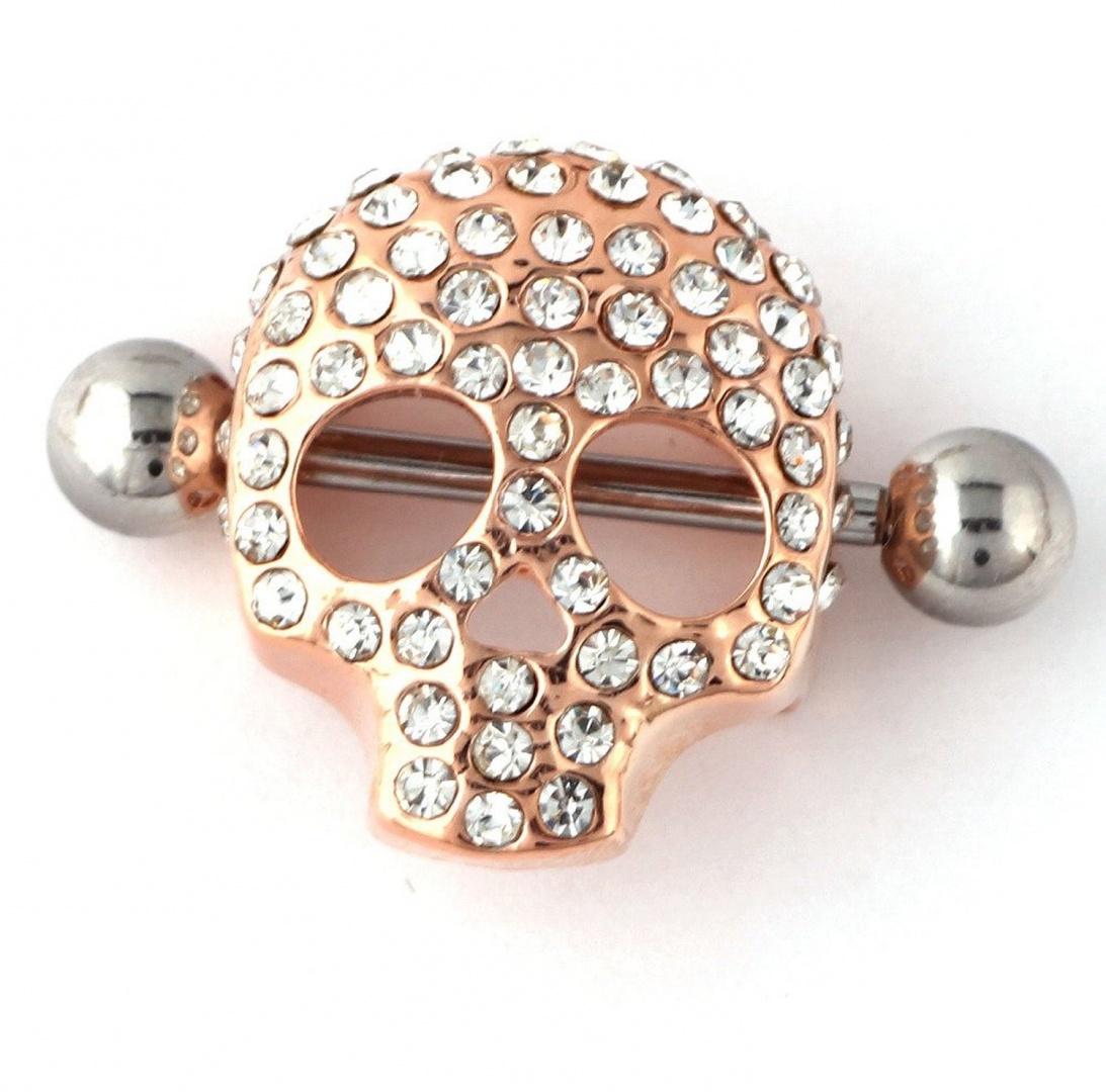 RichBest Fashion Body Jewellery Skull Nipple Piercing Ring Body