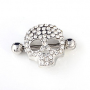 RichBest Summer Style Skull Design Nipple Shield Nipple Ring Body Jewellery 316L Surgical Steel Nipple Jewellery Nipple Piercing