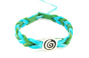 tanglz Blue/Green Men's Leather Bracelet Celtic Knot. with Tracking