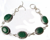 TANGLZ Emerald Bracelet in Sterling Silver 925/1000 stone of inspiration and patience Infinite Free Tracked delivery