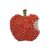 RichBest Upscale Exquisite Shiny Drill Red Apple Women Brooches For New Christmas