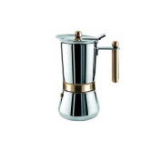 Vespress Vev Vigano 8160 Gold 12 to 14-cup Coffee Pot - Made in Italy