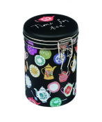 Tea Caddy - Round Hermetically Sealed - TEAPOTS DESIGN - Time for Tea - 16cm