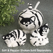 Bits and Pieces - Chubby Cats Ceramic Sugar Bowl - Home and Kitchen Décor - Functional Cat Art