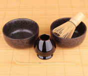Goodwei Japanese Matcha Set Duo - Two Bowls, Matcha Whisk and Holder - New Design