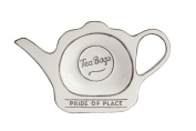 T & G Pride Of Place Tea Bag Coaster Tidy Holder White 18080