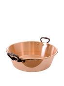 MAUVIEL 4414.00 - NOT HAMMERED COPPER JAM PAN WITH CAST IRON HANDLES 40 cm