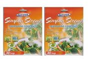 2 x Packs Of 30 Sealapack Simply Steam Vegetable Microwave Steam Cooking Bags