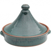 Amazing Cookware 20 cm Terracotta Tagine, Peacock Green