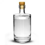 Galileo Flint Glass Bottle with Cork 17.6oz / 500ml - Glass Preserving Bottle for Making Home Made Sloe Gin