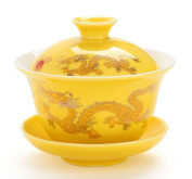 Chinese Porcelain Gaiwan Happy Red Dragon Tradition Sancai Tea Cup Tea Set Best Gift