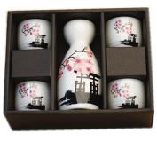 Japanese Cherry Blossom Ceramic Sake Set Cherry Blossom Best Gift