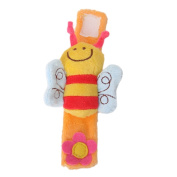 TOOGOO(R) Lovely Soft Baby Wrist Rattle Toy Hands Finder