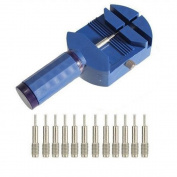 Blue Watch Band Link Pin Remover Strap Adjuster Opener Repair Watch maker Tool +12 pin