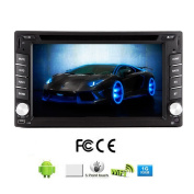 Android 4.2 16cm Car DVD Player GPS Double Din In Dash Navigation Digital Touch Screen Audio Bluetooth Car Stereo Video WiFi 3D Map
