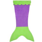 TiaoBug Kids Girls Swimming Mermaid Tail Fleece Blanket for Children Teens