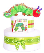 2 Tiers - The Very Hungry Caterpillar nappy cake baby gift hamper basket unisex - FAST.