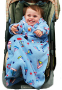POP-ON Sleeved Blanket to fit 0-1 years for Buggies, Pushchairs and Car Seats. YACHTS
