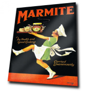 MARMITE 1930s METAL Wall Sign Plaque Vintage Advert Ad poster (A5 Small