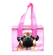 Woven Cool Bag Lunch Box - Jack Evans Pink Pug