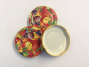 6 Fruity Jam Jar Lids, 58mm