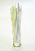 "250 x 8"" Stripped Jumbo Drinking Straws - 210mm x 7mm - Ideal for Smoothies by Chabrias Ltd"