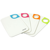 COM-FOUR® 4x Breakfast Boards Chopping Boards - available in Various Colours