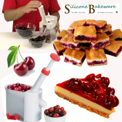 New Automatic Cherry Pitter, Peeler, Corer, Stoner, Slicer For Olive, Cherry, Cranberry, Grape Kitchen Tool - Silicone-Bakeware®