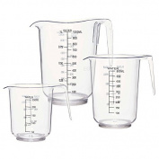 3pc Clear Plastic Measuring Jug Set