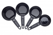 Kitchen Craft Nesting Magnetic Measuring Cups - Black