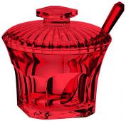 Guzzini Belle Epoque Sugar Bowl with Teaspoon, Red