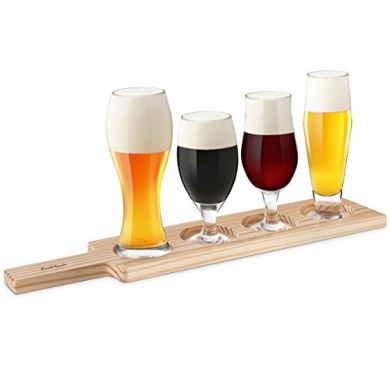 Beer Tasting 6 Piece Set | Beer Glass Gift Set for Beer Appreciation, Education and Food Pairings