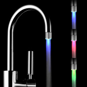 ROPALIA Self Power Water Powered Temperature Control Sensor Water Glow RGB 7 Colours Changing LED Faucet