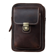 Koolertron Mens Genuine Leather Fanny Small Messenger Waist Bag Pack