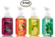 Bath and Body Works Kitchen Favourites Soap Collection (Set of 4) Black Cherry Merlot + Kitchen Lemon + Eucalyptus Mint + Peach Bellini -- Bath & Body Works Gentle Foaming Hand Soaps