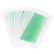 10 Pcs Professional Double-side Facial & Body Hair Removal Wax Strips Paper Depilatory