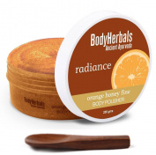 BodyHerbals Ancient Ayurveda Radiance, Aromatherapy Orange Honey Fine Body Polisher, 210ml