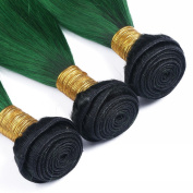 Colourful 1B/Green Ombre Hair Extensions 4 Bundles Black And Green Queen Love Ombre Brazilian Virgin Hair Straight Human Hair Weaves