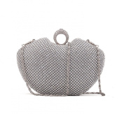 Chirrupy Chief® Apple Shape Ring Clutch Purse Bling Rhinestone Crystal Clutch Bag