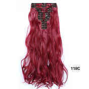NiCheng 50cm 150g 12pcs/set Curly/wavy Full Head Clip-in Hair Extensions Synthetic Women's Hairpieces