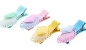 Yaslnn 8pcs Baby Girls Colourful Heart Hair Clips